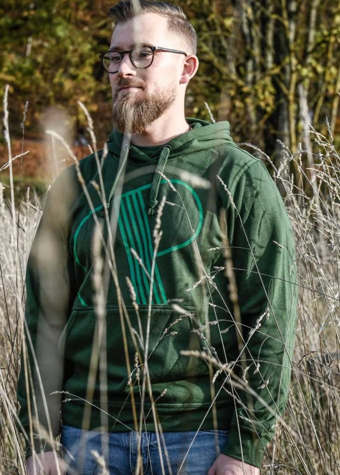 hoodie green distillerie porrentruy men